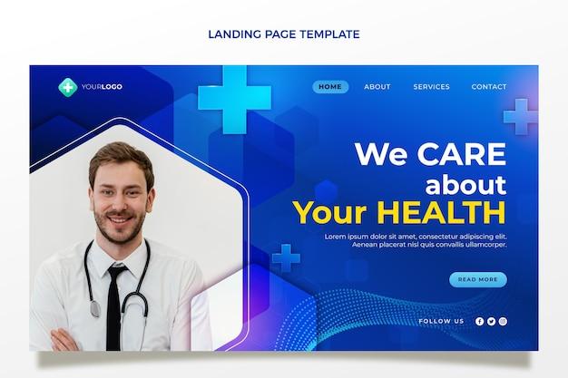 Página de destino médica realista