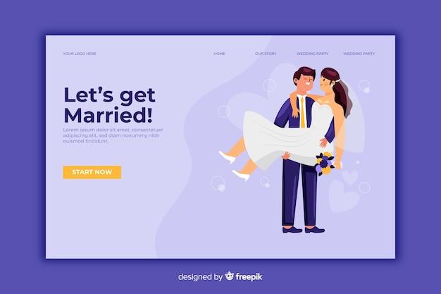 Página de destino para casamentos casados