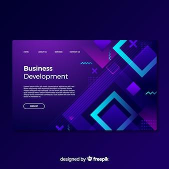 Página de destino para desenvolvimento de negócios