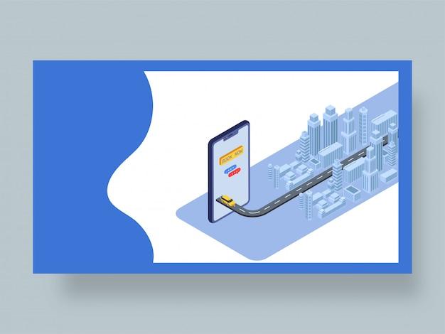 Página de destino para o aplicativo de reserva de cabine on-line.