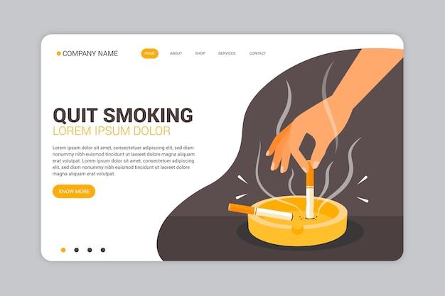 Página de destino para parar de fumar