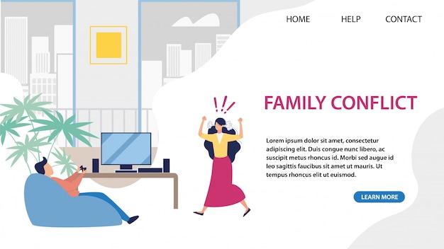 Página de destino para solução de conflitos familiares
