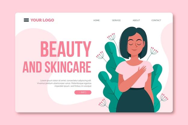 Página de destino para tratamento de beleza