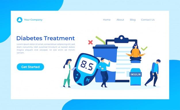 Página de destino para tratamento de diabetes