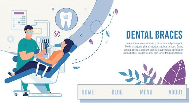 Página de destino que oferece serviço de assistência odontológica