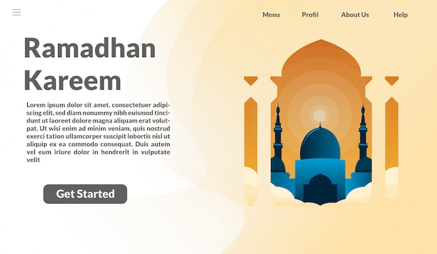 Página de destino ramadhan kareem