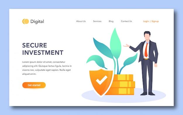 Página de destino segura para investidores