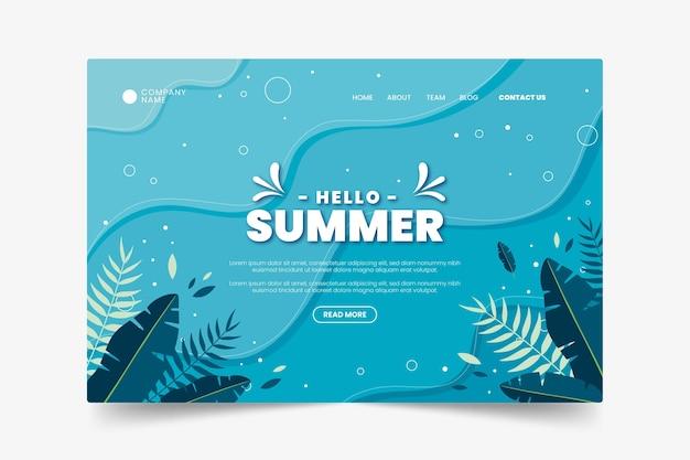 Página de destino subaquática de verão exótico