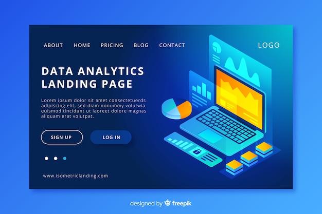 Página de entrada de análise de dados
