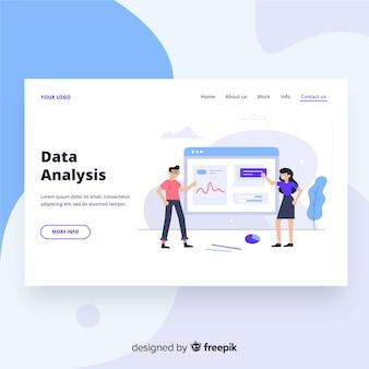 Página de entrada para análise de dados