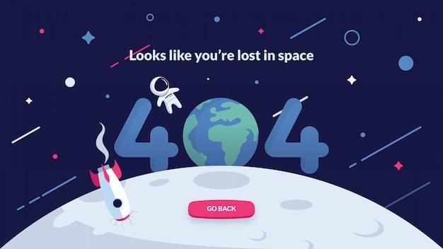 Página de erro 404 - espaço