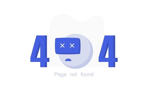 Página de erro 404 não encontrada com o robô quebrado.