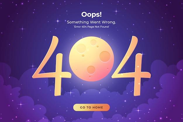 Página de erro 404 não encontrada conceito de página da web ausente