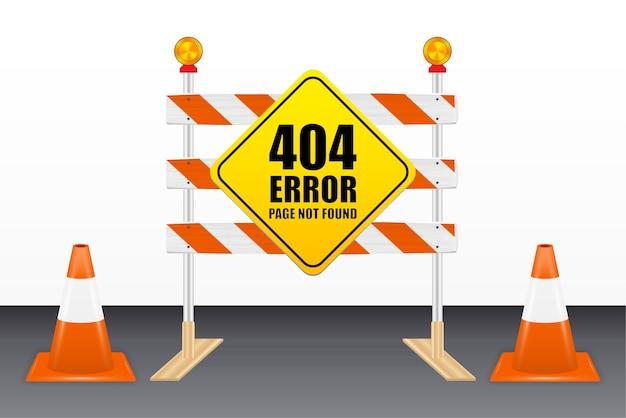 Página de erro 404 não encontrada em ferramentas de bloqueio de estrada