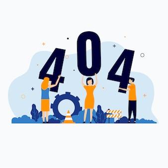 Página de erro 404 não encontrada ilustração do conceito