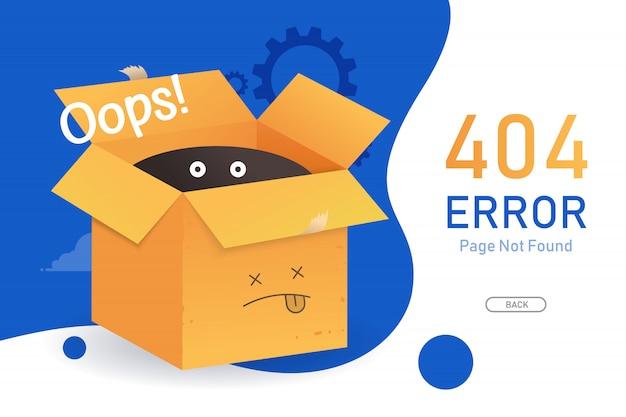 Página de erro 404 não encontrada vector com modelo de design gráfico de proa para o site