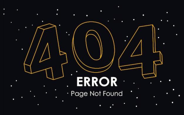 Página de erro 404 não encontrada vetor de linha
