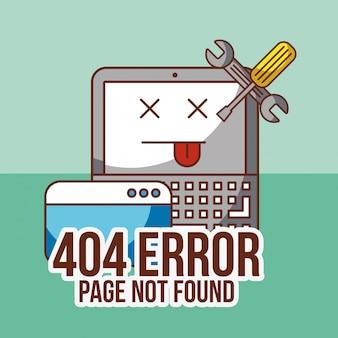 Página de erro 404 não encontrada