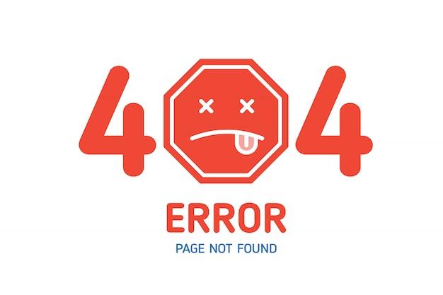 Página de erro 404 não encontrado modelo de design para o site
