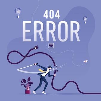 Página de erro 404 ou arquivo não encontrado para a página da web