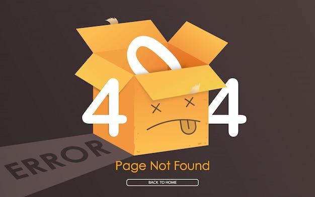 Página de erro de caixa 404 não encontrada