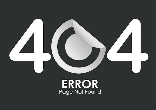 Página de erro de etiqueta 404 não encontrada no preto