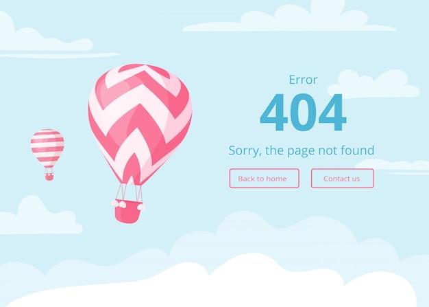 Página de erro do balão de ar quente