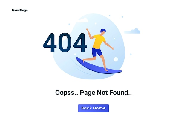 Página de erro do conceito plano 404 não encontrada