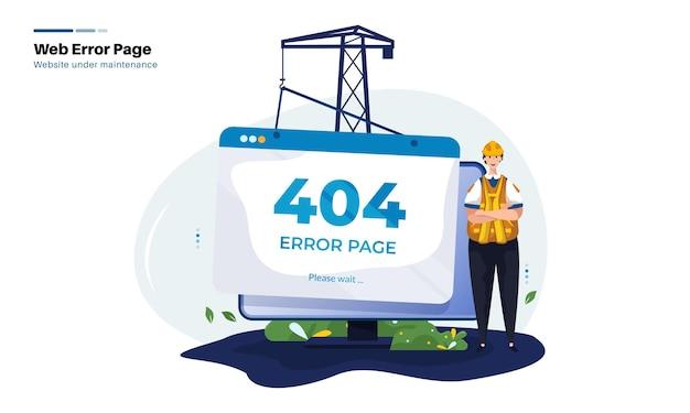 Página de erro do site não encontrada em manutenção