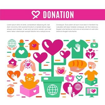 Página de informações para doação de caridade