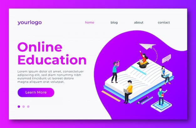 Página de landig de educação on-line