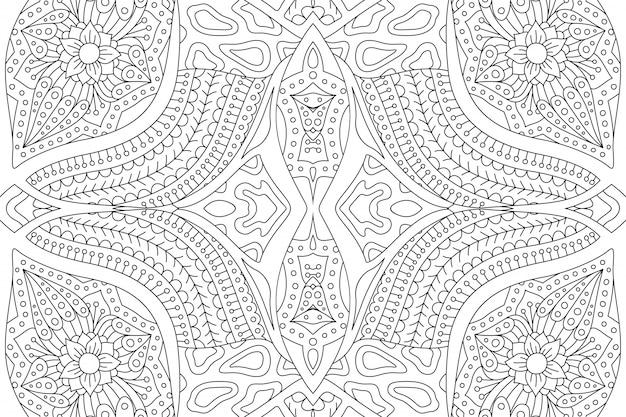 Página de livro para colorir com padrão abstrato linear
