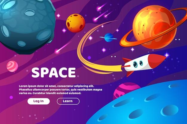 Página de login do space