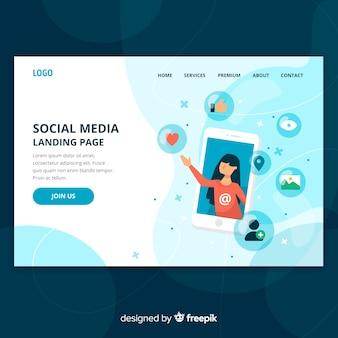 Página de mídia social anding