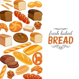 Página de modelo de produtos de pão