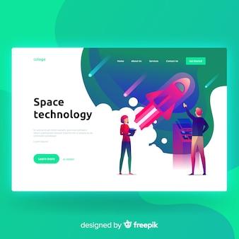 Página de pouso de tecnologia espacial