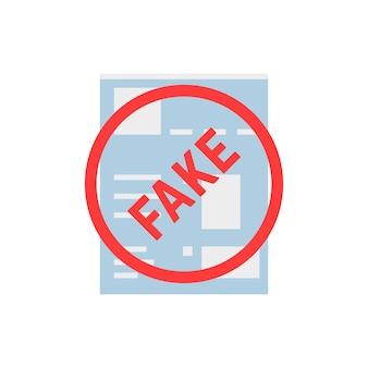 Página de rede social simples falsa. conceito de política de privacidade, livro de página da web, espião, mentira, cópia do cabeçalho, bate-papo de layout, ilegal, app. ilustração em vetor design de logotipo moderno tendência estilo plano no fundo branco