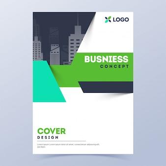Página de rosto ou layout de modelo de folheto para o conceito de negócio.