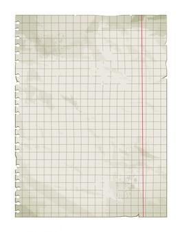Página do caderno do grunge