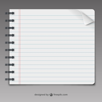Página do caderno vector