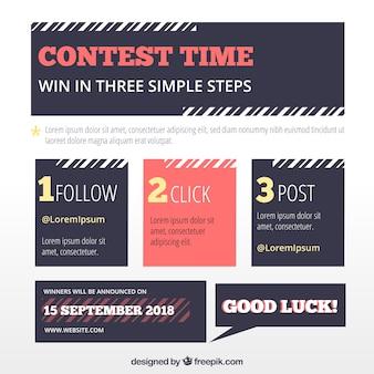 Página do concurso de mídia social