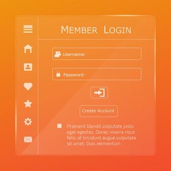 Página do formulário de login.