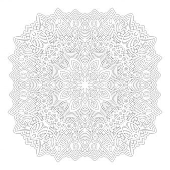Página do livro de colorir com padrão sem emenda abstrata