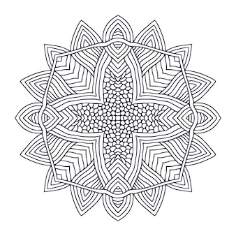 Página do livro de colorir mandala ornamental
