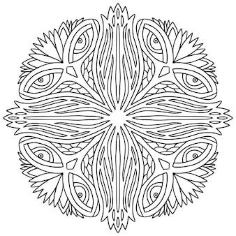 Página do livro de colorir mandala ornamental