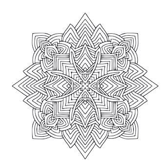 Página do livro para colorir interior mandala print