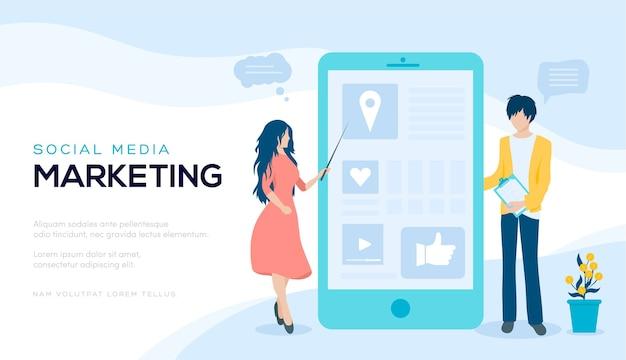 Página do site deslizante moderno. plano de fundo de marketing de mídia social. trabalhando em banner de web de redes sociais.