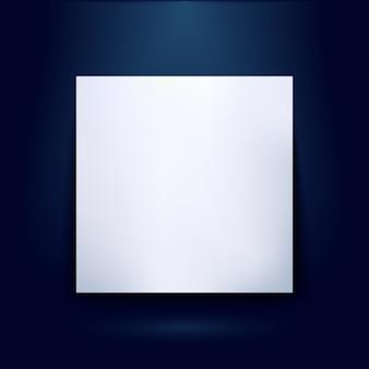 Página em branco da feira para o produto de apresentação