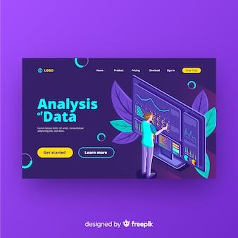 Página inicial da análise de dados