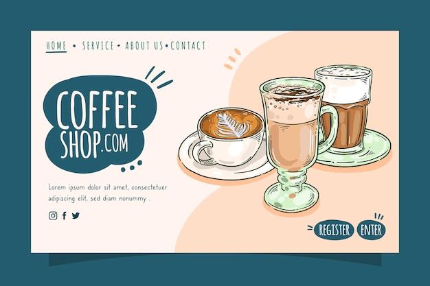 Página inicial da cafeteria
